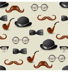 retro seamless with mustaches vector image