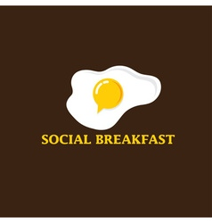 social breakfast with fried eggs design template vector image
