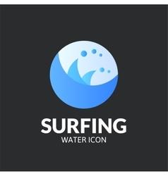 Surfing logo template vector