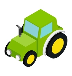 Tractor isometric 3d icon vector image