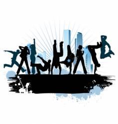 urban city party vector image vector image