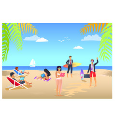 business summer vacations vector image