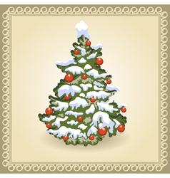 Christmas tree 10 vector image vector image