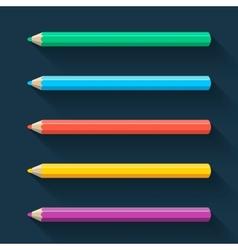 Flat pencils vector image vector image