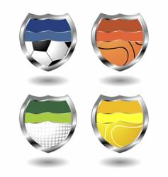 sport badges vector image vector image