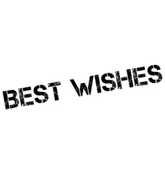 Best wishes rubber stamp vector