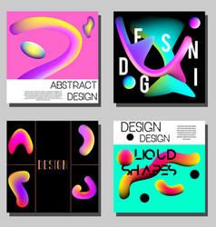 Colorful abstract covers design templates modern vector