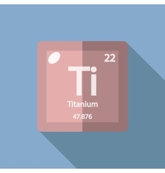 Chemical element Titanium Flat vector image vector image