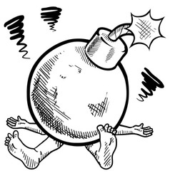doodle squish bomb vector image vector image
