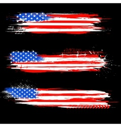 Grungy American Flag Banner vector image