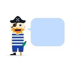 Halloween captain pirate character costume vector image