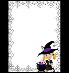 halloween template with space for text with of vector image vector image