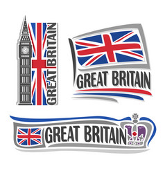 logo for great britain vector image vector image