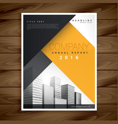 modern business flyer in yellow and black color vector image vector image