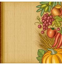 Retro harvest background vector image vector image