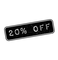 20 percent off rubber stamp vector