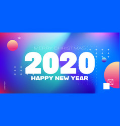 2020 happy new year merry christmas poster holiday vector image