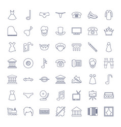 49 classic icons vector
