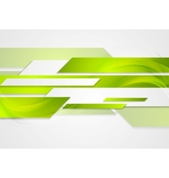Abstract green tech wavy background vector image