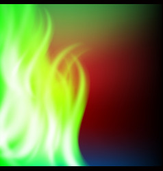abstract rainbow green fire background vector image