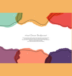 abstract template bright paint transparency on vector image
