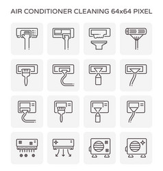 air conditioner cleaning vector image