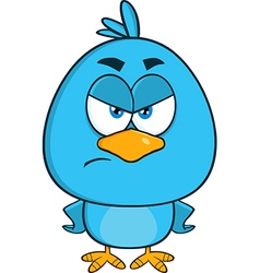 Angry Blue Bird Cartoon vector