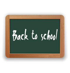 Back to school on green blackboard vector