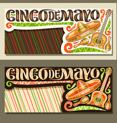 banners for cinco de mayo holiday vector image