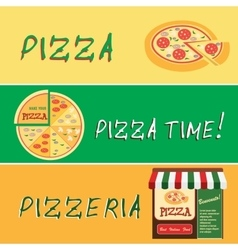 Banners of pizza design vector image