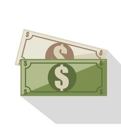 Bills dollars isolated icon vector
