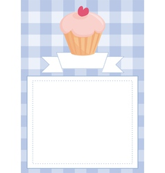 Blue restaurant menu card or baby shower list vector