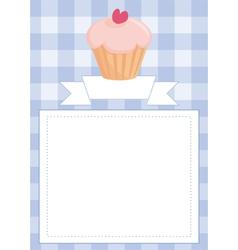 Blue restaurant menu card or bashower list vector