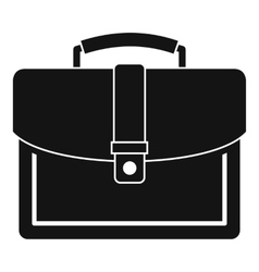 Business briefcase icon simple style vector