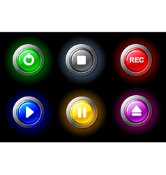 Buttons with video characters vector image