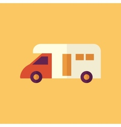 Camper transportation flat icon vector