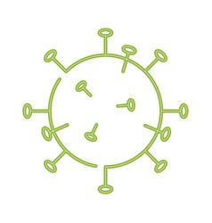 cell coronavirus bacteria icon 2019-ncov concept vector image