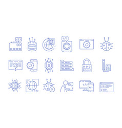 coder icons programmer computer software expert vector image