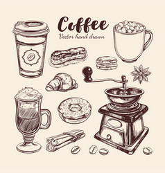 Coffee and coffee to go set vector