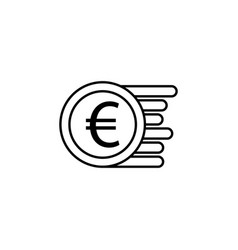 coin euro icon element of finance signs and vector image