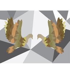 Colorful Polygonal Pigeon7 vector