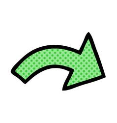 Comic book style cartoon pointing arrow vector