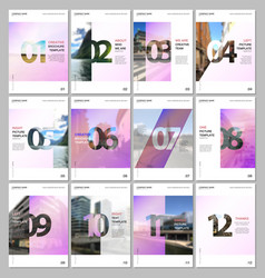 creative brochure templates with numbers easy to vector image