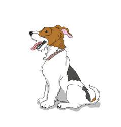 dog sitting vector image
