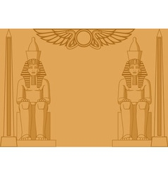 Egyptian Background vector image