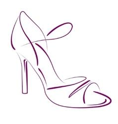 Elegant sketched woman s shoe vector image