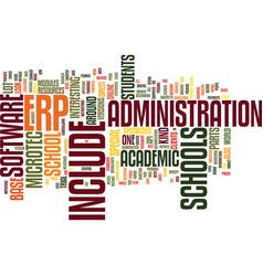 Erp academic base text background word cloud vector