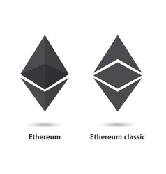 Ethereum and ethereum classic vector
