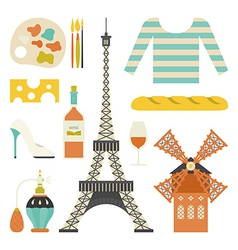 French Symbols vector image