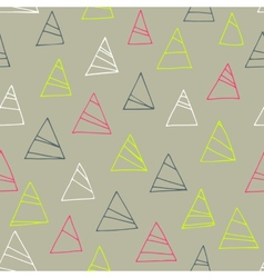 Geometric seamless pattern with triangles Abstract vector
